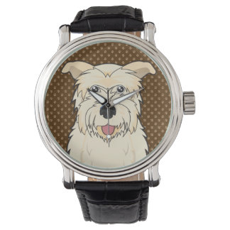 Glen of Imaal Terrier Cartoon Paws Wristwatch