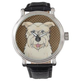 Glen of Imaal Terrier Cartoon Paws Wristwatch