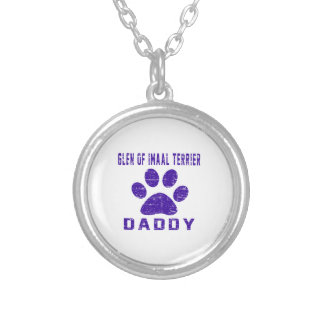 Glen of Imaal Terrier Daddy Gifts Designs Round Pendant Necklace