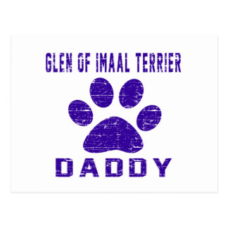 Glen of Imaal Terrier Daddy Gifts Designs Postcard