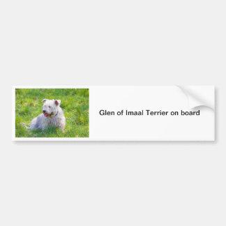 Glen of Imaal Terrier dog bumper sticker, gift Car Bumper Sticker
