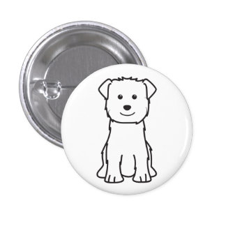 Glen of Imaal Terrier Dog Cartoon Button