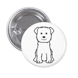 Glen of Imaal Terrier Dog Cartoon Button