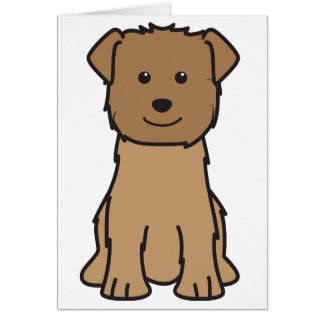 Glen of Imaal Terrier Dog Cartoon Card