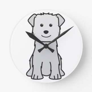 Glen of Imaal Terrier Dog Cartoon Wall Clocks
