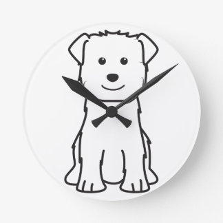 Glen of Imaal Terrier Dog Cartoon Round Wall Clock