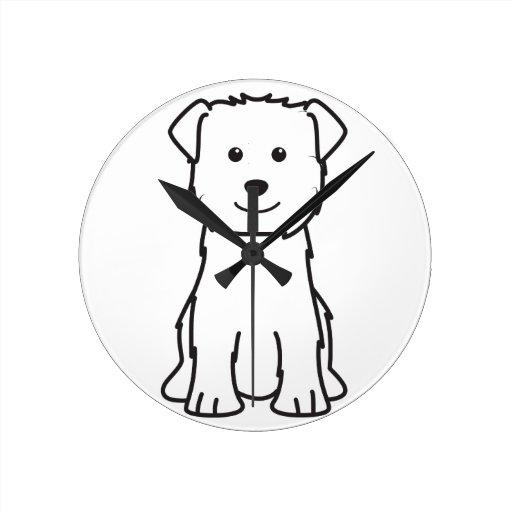 Glen of Imaal Terrier Dog Cartoon Round Wall Clock