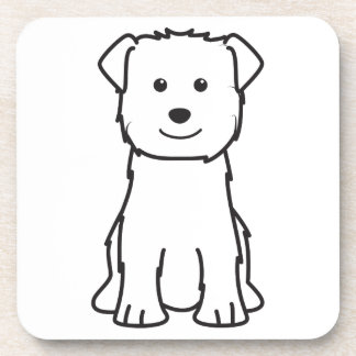 Glen of Imaal Terrier Dog Cartoon Coasters