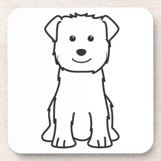 Glen of Imaal Terrier Dog Cartoon Coasters
