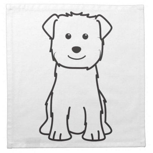 Glen of Imaal Terrier Dog Cartoon Napkin