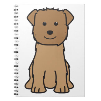 Glen of Imaal Terrier Dog Cartoon Note Books