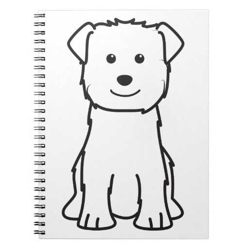 Glen of Imaal Terrier Dog Cartoon Note Books