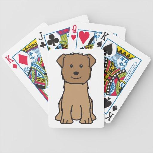 Glen of Imaal Terrier Dog Cartoon Bicycle Card Decks