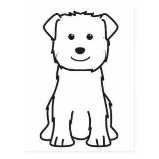 Glen of Imaal Terrier Dog Cartoon Postcard