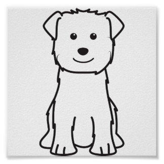 Glen of Imaal Terrier Dog Cartoon Poster