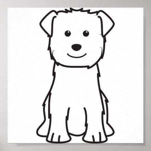 Glen of Imaal Terrier Dog Cartoon Poster