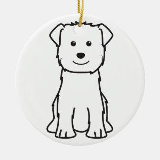 Glen of Imaal Terrier Dog Cartoon Round Ceramic Decoration