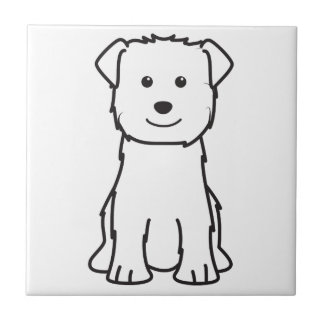 Glen of Imaal Terrier Dog Cartoon Small Square Tile