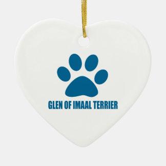 GLEN OF IMAAL TERRIER DOG DESIGNS CERAMIC ORNAMENT