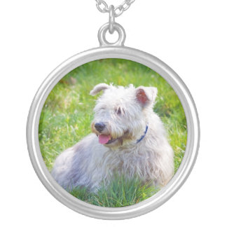 Glen of Imaal Terrier dog necklace, pendant, gift Round Pendant Necklace