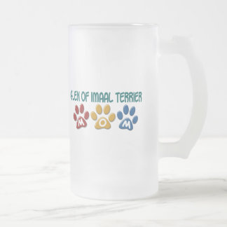GLEN OF IMAAL TERRIER Mom Paw Print 1 16 Oz Frosted Glass Beer Mug