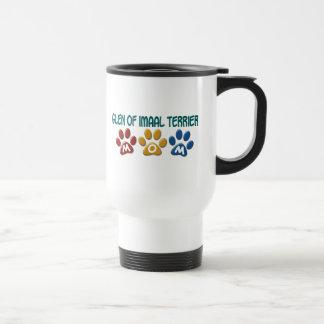 GLEN OF IMAAL TERRIER Mom Paw Print 1 Stainless Steel Travel Mug