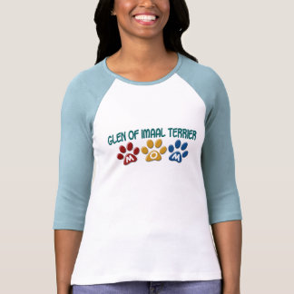 GLEN OF IMAAL TERRIER Mom Paw Print 1 T-shirts