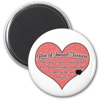 Glen of Imaal Terrier Paw Prints Dog Humor 6 Cm Round Magnet