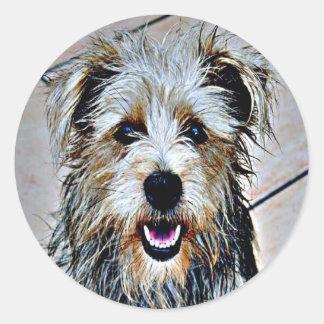 Glen of Imaal Terrier Pop Art Classic Round Sticker