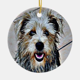 Glen of Imaal Terrier Pop Art Round Ceramic Decoration