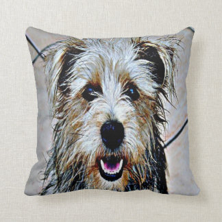 Glen of Imaal Terrier Pop Art Throw Pillow