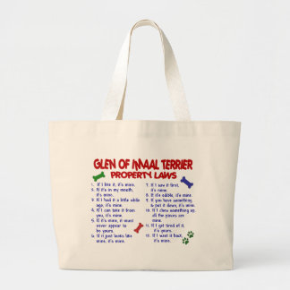 GLEN OF IMAAL TERRIER Property Laws Jumbo Tote Bag