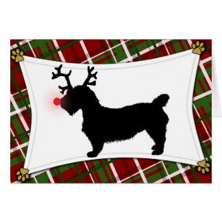 Glen of Imaal Terrier Reindeer Christmas Card