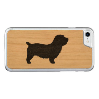 Glen of Imaal Terrier Silhouette Carved iPhone 8/7 Case