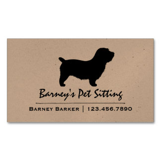 Glen of Imaal Terrier Silhouette Magnetic Business Cards