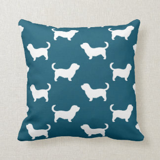 Glen of Imaal Terrier Silhouettes Pattern Cushion