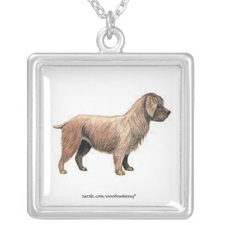Glen of Imaal Terrier Square Pendant Necklace
