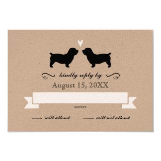 Glen of Imaal Terriers Wedding Reply RSVP Card