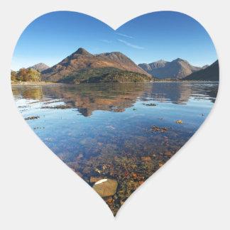 Glencoe and Ballachulish, Scotland Heart Sticker