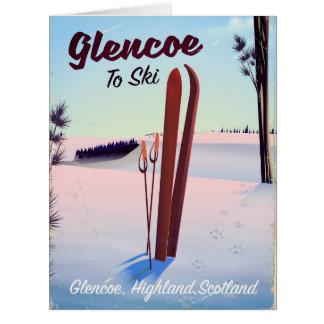 Glencoe To Ski travel poster Card