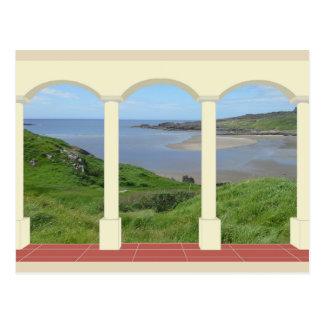 Glencolmcille Beach through Arch Postcard