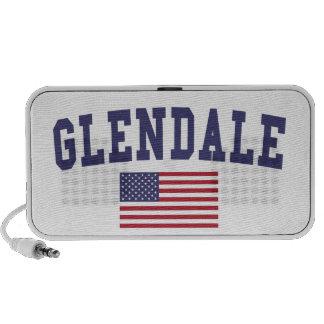 Glendale CA US Flag Mini Speaker
