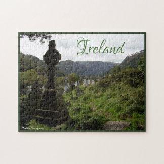 Glendalough Celtic Cross Jigsaw Puzzle