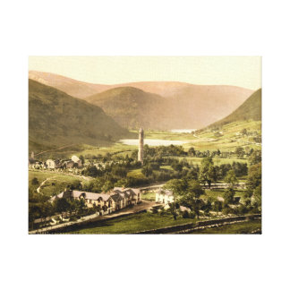Glendalough, Co Wicklow, vintage Ireland print Stretched Canvas Prints