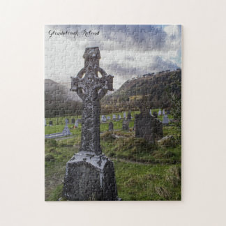 Glendalough Ireland Celtic Cross Jigsaw Puzzle