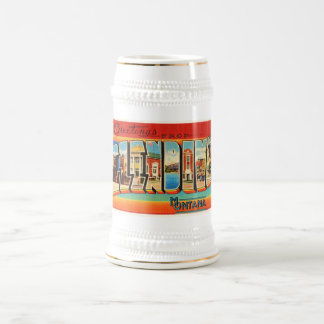 Glendive Montana MT Old Vintage Travel Souvenir Beer Stein