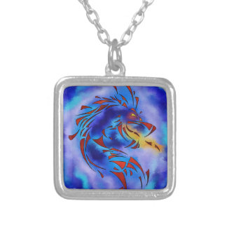 Glenfbach V1 - mystic dragon Silver Plated Necklace