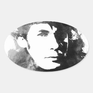 Glenn Gould Oval Sticker