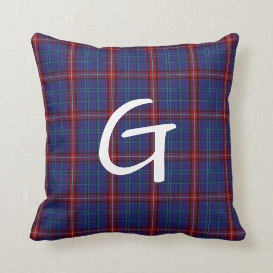 Glenn Plaid Monogrammed Pillow