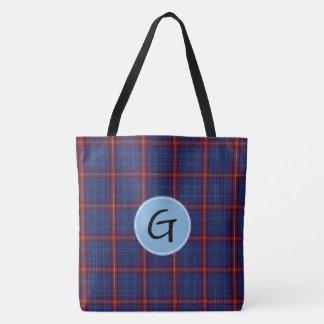 Glenn Tartan Plaid Tote Bag